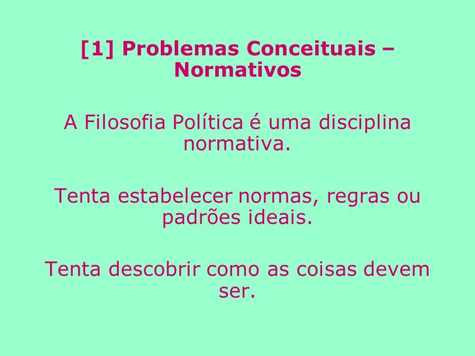 [1] Problemas Conceituais – Normativos